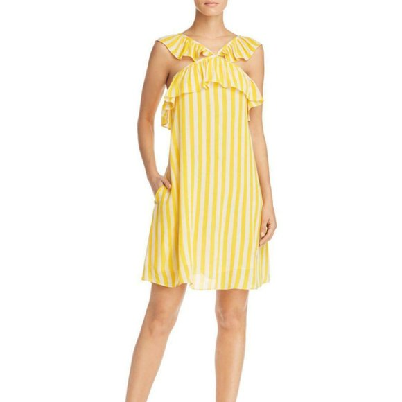 Rebecca Minkoff Small Tinsley Ruffle Striped Dress